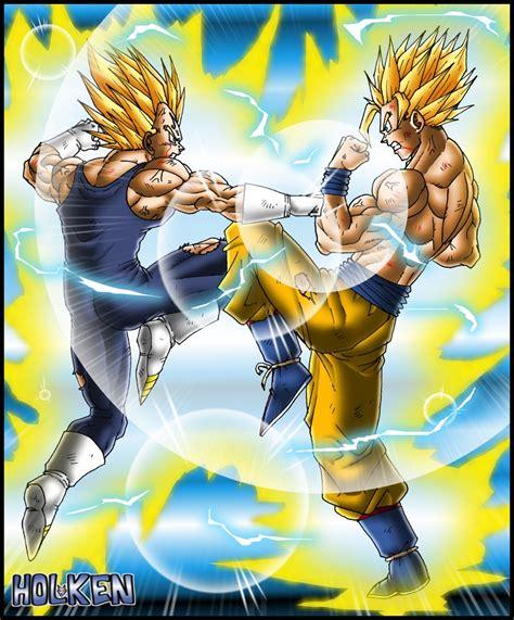 Majin L Vs Goku by Majin Vegeta Vs Goku By Dbzwarrior On Deviantart