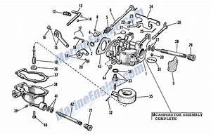 Johnson Carburetor Group Parts For 1962 3hp Jw