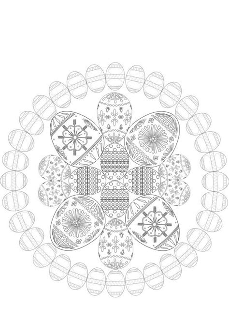 oster mandala zum ausmalen malbuch ausmalbilder