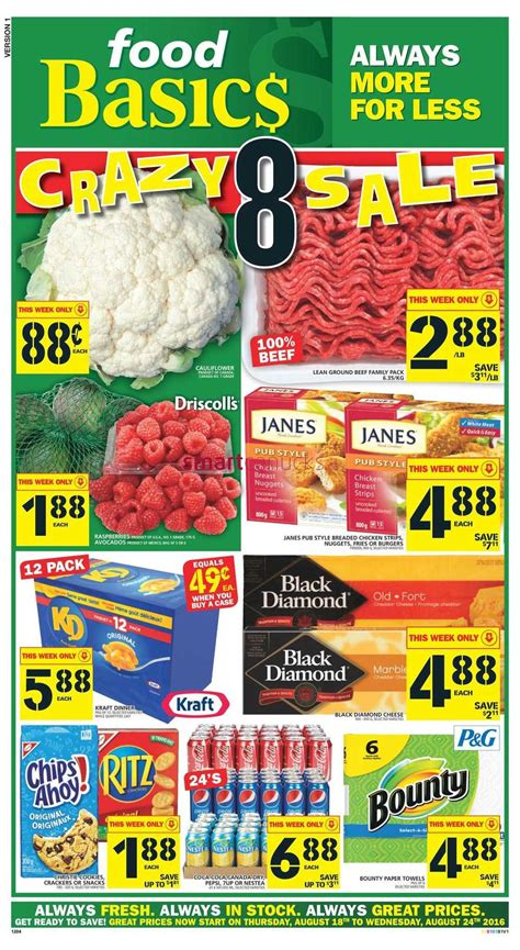 basics of cuisine food basics flyer august 18 to 24 food basics flyer