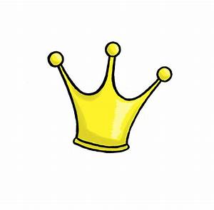 Yellow clipart princess crown - Pencil and in color yellow ...