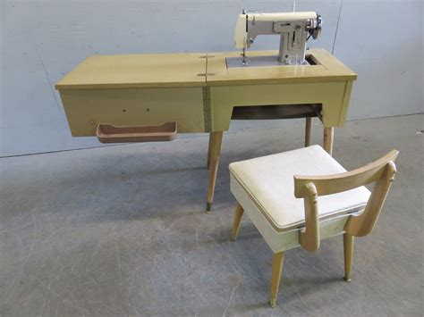 vintage sears kenmore sewing machine in cabinet transitional design auctions vintage sears