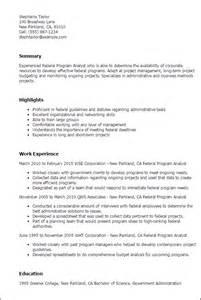 resume objective for it analyst resume exle budget analyst resume sle finance
