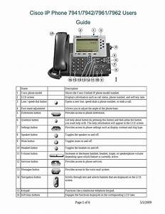 Cisco ip phone 7941 user manual 6 pages also for ip for Cisco ip phone 7942 manual