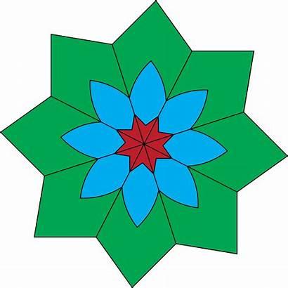 Flower Kaleidoscope Clip Clker Clipart Tamer Shared