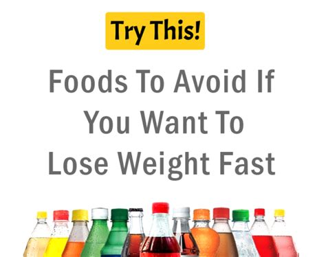 Foods To Avoid If You Want To Lose Weight Fast  Health Tips  Try This