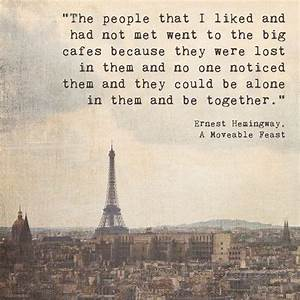 Eiffel Tower In... Inspirational Paris Quotes