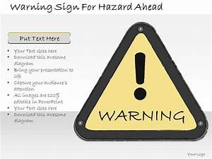 1013 Business Ppt Diagram Warning Sign For Hazard Ahead