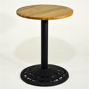Kleiner Runder Tisch : runder gastro tisch im retro design kleiner runder tisch gestell gusseisen gastrotisch ~ Watch28wear.com Haus und Dekorationen