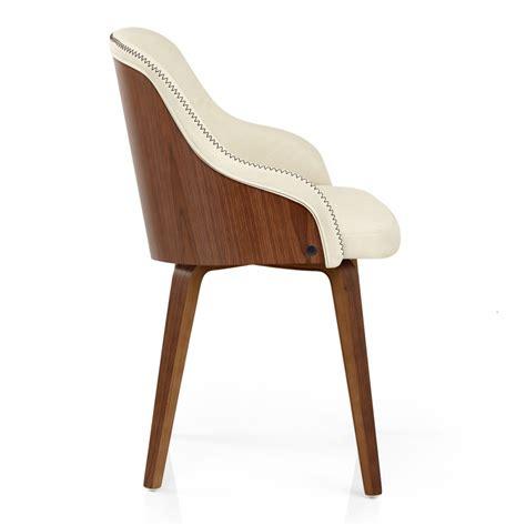 chaise noyer chaise faux cuir et bois fusion monde du tabouret