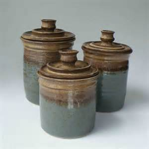 brown kitchen canisters made to order kitchen set of 3 canisters by janfairhurstpottery