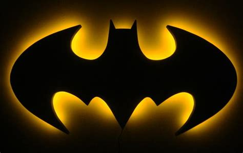batman logo led wall light night light