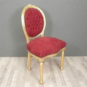 Chaise Louis Xvi : chaise louis xvi baroque rouge chaise baroque ~ Teatrodelosmanantiales.com Idées de Décoration