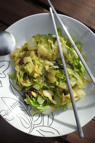 chou chinois cuisine poêlée de chou chinois à l asiatique