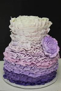 Purple Ombré Ruffle Cake | Xtra Special Cakes