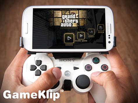 controller for android gameklip combines ps3 controller with android phones poor