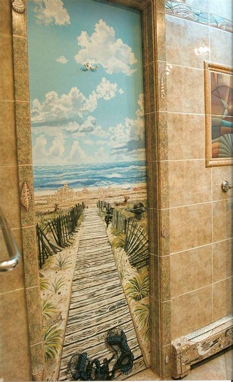 trompe loeil beach murals  fire island beach scenes