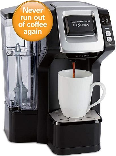 But i love it because you can use the k cup or they give you the other fitting for your own a:answer thank you for your question. Amazon Gold Box - Hamilton Beach FlexBrew Connected Single-Serve Coffee Maker - $49.99 (reg. $89 ...