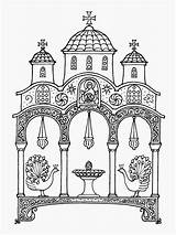 Orthodox Icons Coloring Pages Clipart Church Colouring Sunday Ink Drawing Christian Drawings Icon Sketch Christianity Russian Crafts Andrew Illustration Orthodoxartsjournal sketch template