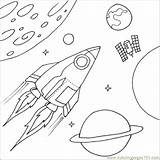 Space Coloring Printable Ship Pages Shapes Spaceship Rocket Colouring Printables Sheets Sheet Outer Education Learning sketch template