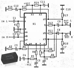 wiring diagram info 2 x 50w ics amplifier with stk4191 With crown ce2000 amplifier circuit diagram