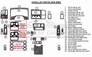Cadillac Escalade 2002 Dash Trim Kit  Basic Kit  27 Pcs    U2013 Interior Dash Kit