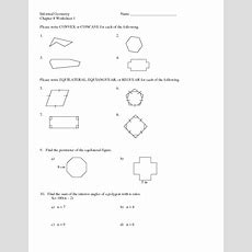 Chapter 8 Worksheet 1 Polygons & Angles Worksheet For 10th  12th Grade  Lesson Planet