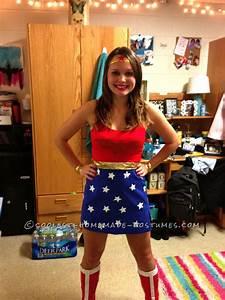 Cool Homemade Wonder Woman Costume | Woman costumes ...