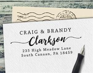 custom rubber stamp personalized address stamp custom With buy return address stamp
