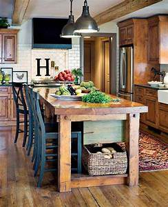 32 Simple Rustic Homemade Kitchen Islands - DIY Craft Projects