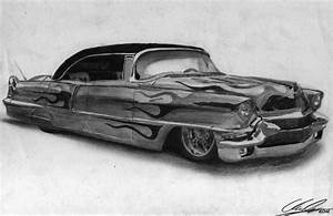 '56 Cadillac Firemaker pencil drawing by xRINAGEx on ...