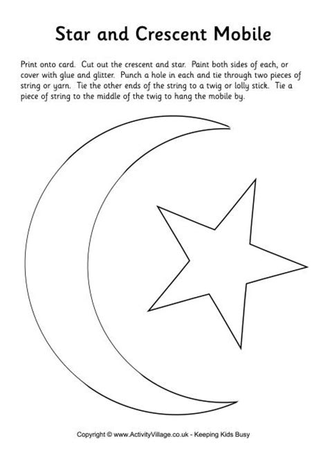 Star and Crescent Moon Mobile