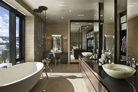 luxury bathroom designs luxury ski resort in montana by len cotsovolos