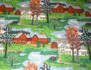 Vintage Fabric ~ Grandma Moses Mt. Nebo | A Riverdale ...