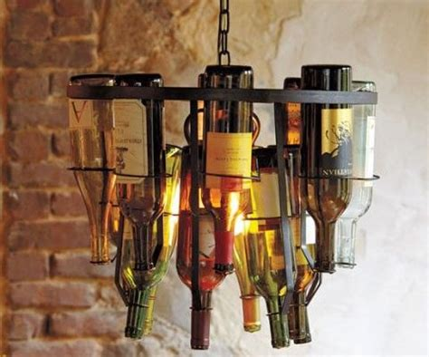 a wine bottle chandelier might just fit into our home i