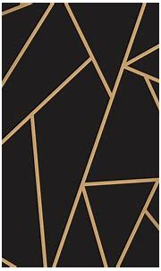 Modern mosaic wallpaper in black and gold | free image by ...