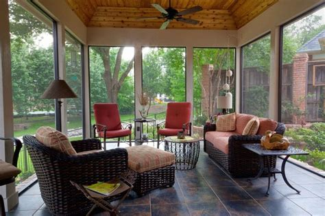 screened enclosed patio traditional porch dallas