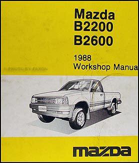 car service manuals pdf 1987 mazda b2600 instrument cluster 1988 mazda b2600 b2200 pickup truck wiring diagram manual original