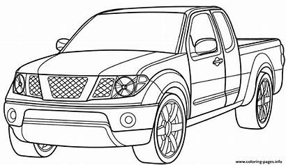 Coloring Truck Pickup Ford Pages Printable
