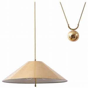 Chinese hat brass and counter weight pendant lamp s