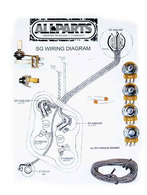 wiring kit for sg guitars allpartsitalia