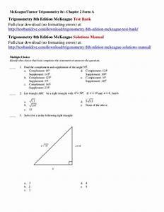 Trigonometry 7th Edition Mckeague Solutions Manual Pdf Free