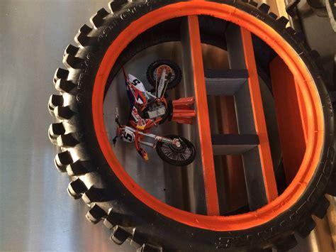 ktm inspired tyre shelf motox boys room pinterest