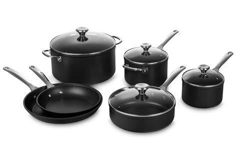 creuset le cookware nonstick piece toughened sets brand clearance
