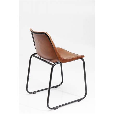Chaise Marron by Chaise Vintage Cuir Marron Kare Design