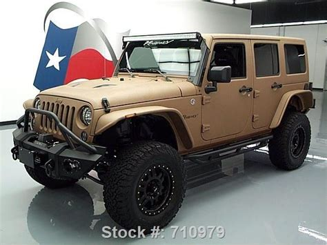 matte brown jeep 2015 matte tan and black customized jeep wrangler http