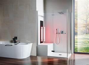 Bad Dusche Kombination : infrarot f r dusche und dampfbad bad design ~ Indierocktalk.com Haus und Dekorationen