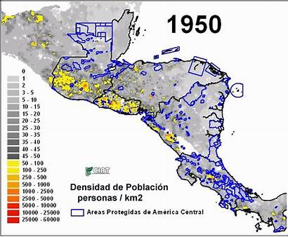 Population America South Central Latin Map Caribbean