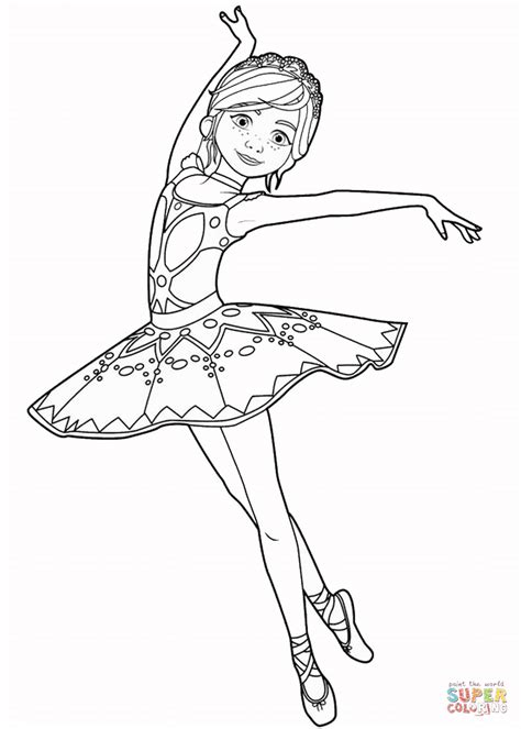 felicie milliner  ballerina  coloring page  printable coloring pages