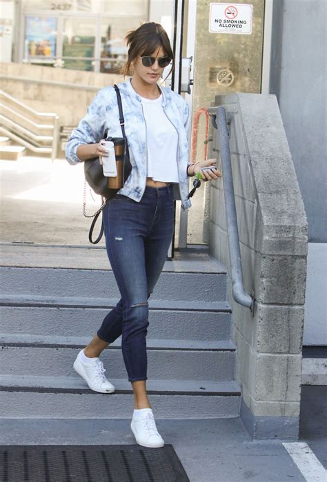 Alessandra Ambrosio in Tights - Out in Los Angeles 2/14 ...